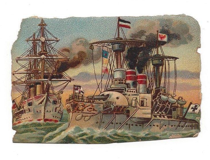 Victorian Die Cut Scraps WWI Gunship