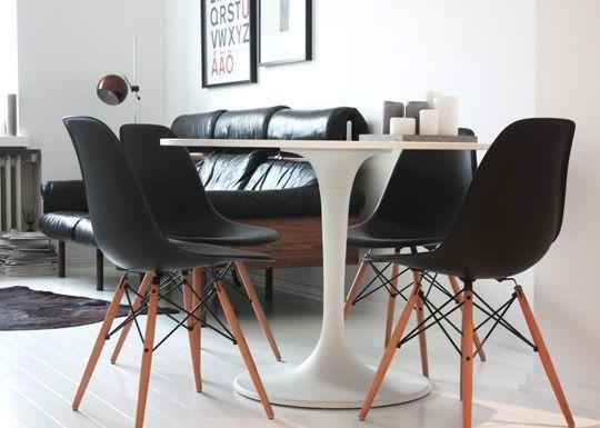 Via Auroran Henkarit Black And White Saarinen Table