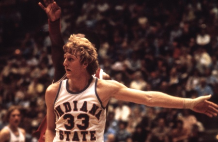 Larry Bird at Indiana State University in Terre Haute