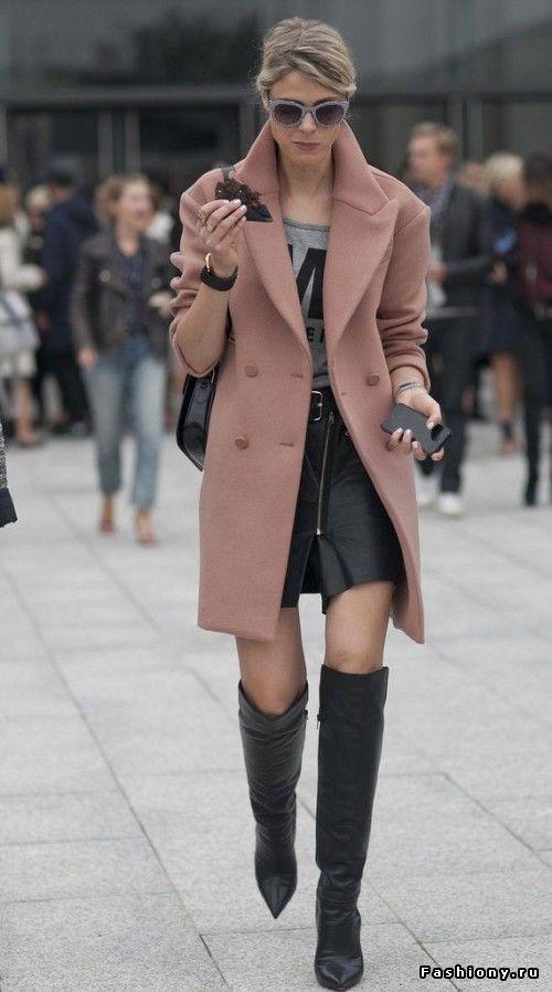 Подборка образов с пальто