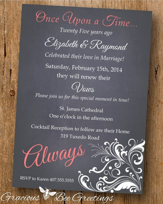 Vow Renewal Invitation  Digital Printable by GraciousBeeGreetings, $14.00… Great Vow Renewal Invite!