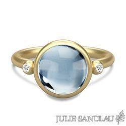Chanti - Julie sandlau ring i sølv med 22 karat forgyldning - Prime