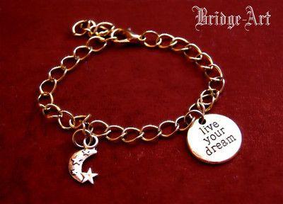 Bransoletka Charms LIVE YOUR DREAM #bransoletka #bracelet #jewelry #jewellery #bizuteria #liveyourdream #lancuszek #chain #charms #charm