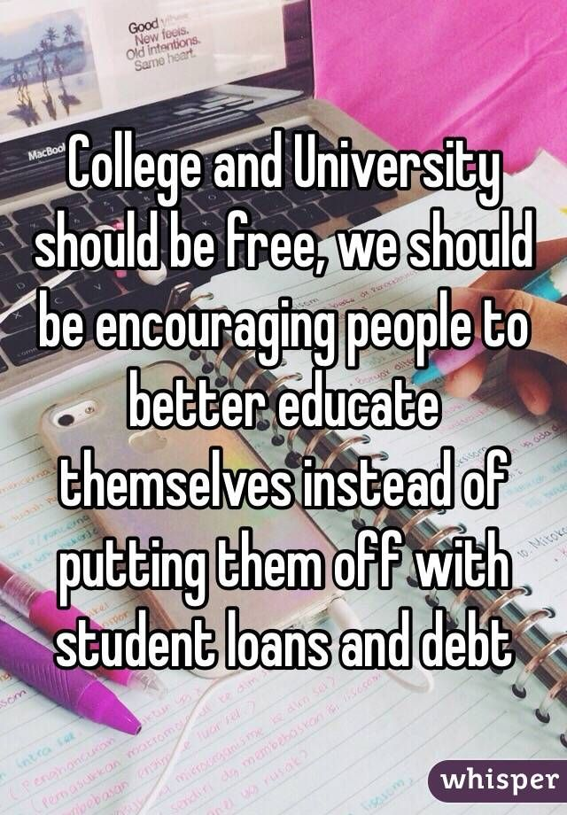 Why All Public Higher Education Should Be Free