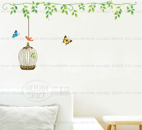 Awesome Butterfly Cage Home Room Decor Removable Wall Sticker/Decal/Decoration |  Removable Wall Stickers, Removable Wall And Books