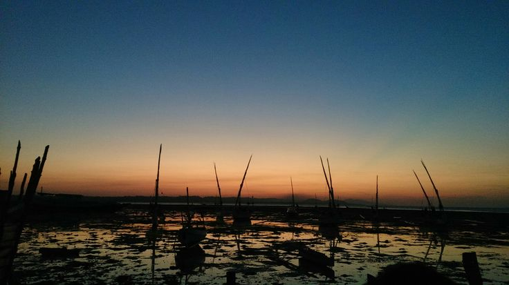 Sunset at fisherman vilage