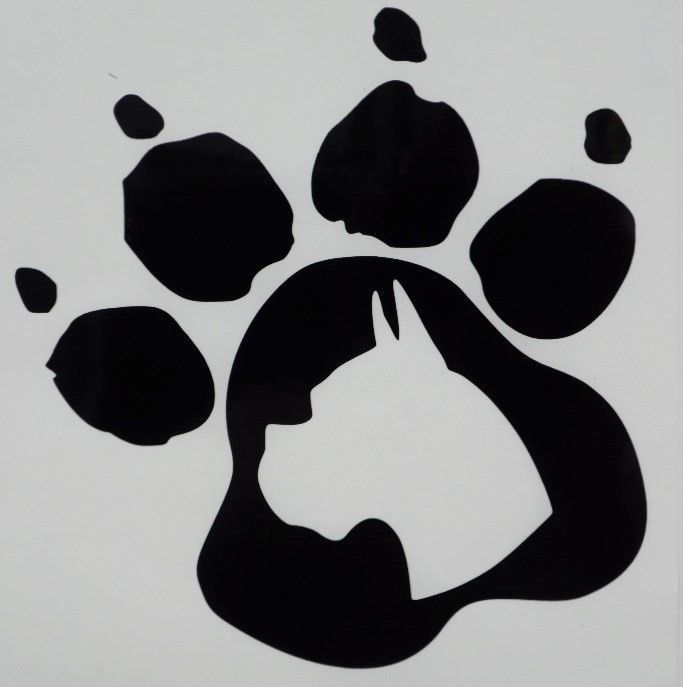 Boxer Paw Print Car Truck Funny Window Vinyl Decal Sticker Choose Color #VinylDecalSticker