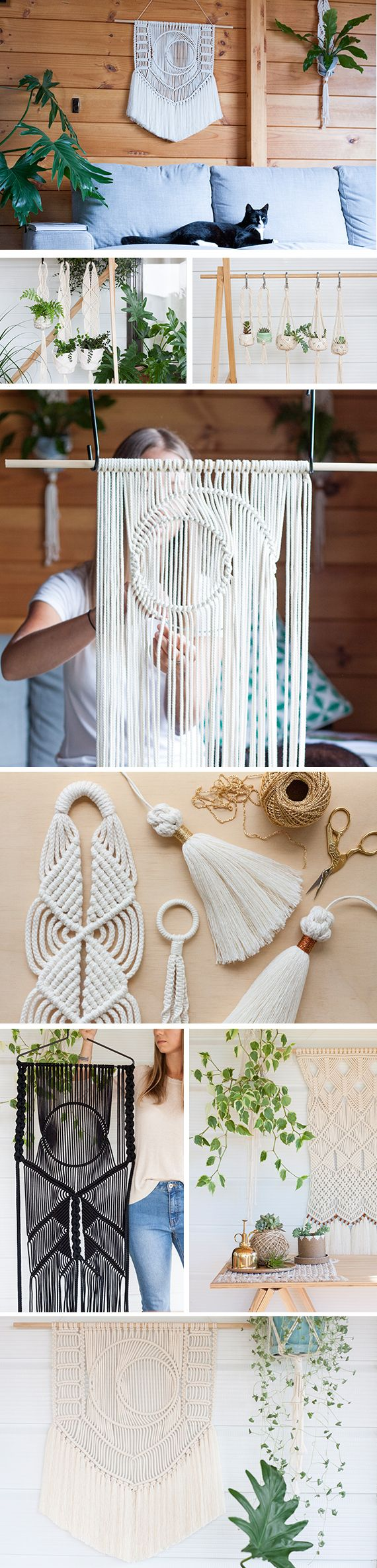 """""""She's still such a big source of inspiration for me — just the way her mind works, with being able to meld, say, knitting and weaving and macramé all together."""" For Nalani, macramé is all in the family. After learning the skill from her mother, she launched Knotty Bloom. Read her story."""