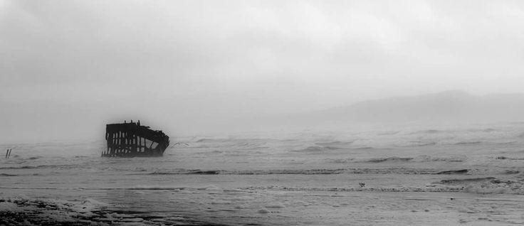 Peter Iredale shipwreck, Fort Stevens OR, roadtrip 2016