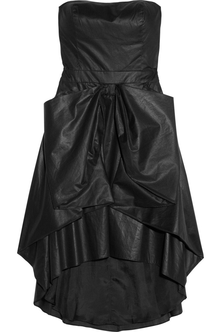 Bow-front coated cotton dress by Cynthia Rowley