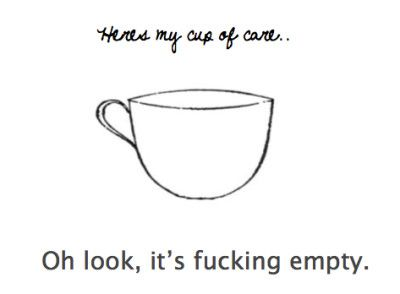 empty cup of care