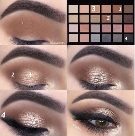 Gorgeous eye look made easy with our Master Palette and step-by-step pictorial from our Doll @anisaartistry!😍🙌