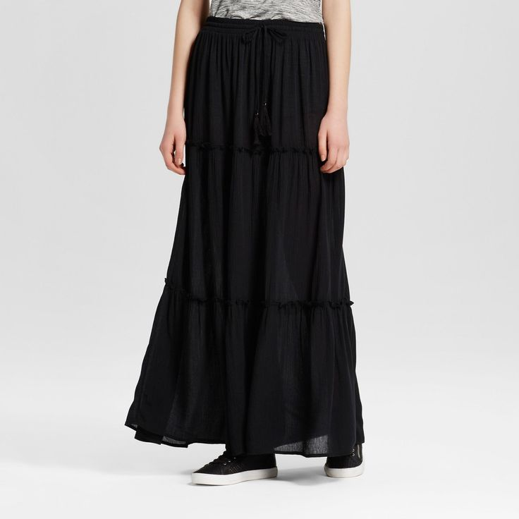 Women's Maxi Skirt Black Xxl - Mossimo Supply Co.