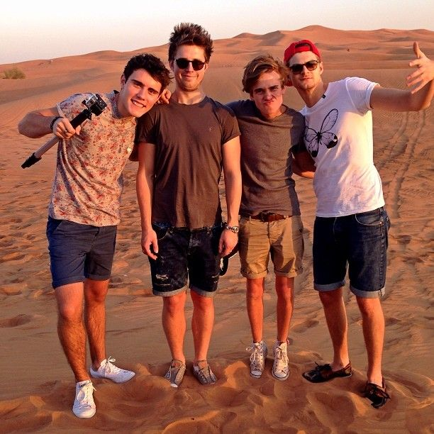 The boys on the Dubai desert.