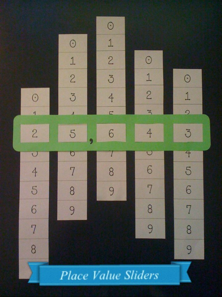 Place value sliders. GREAT IDEA!