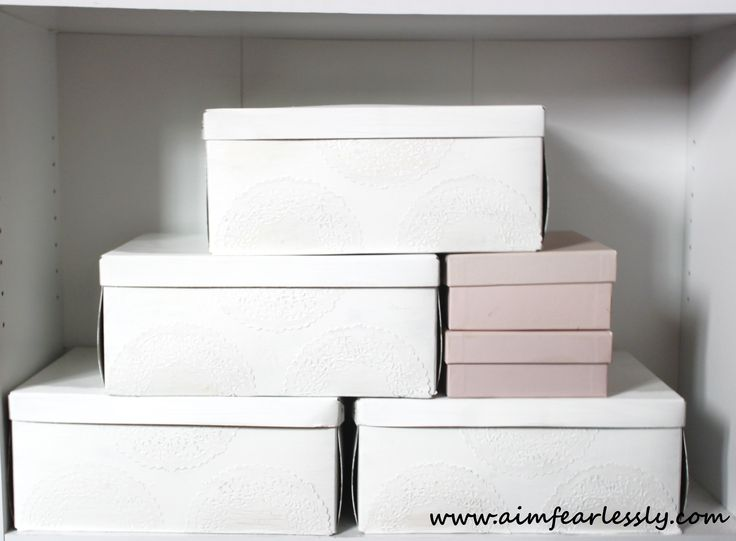 Frugal Friday! Decorating Old Storage Boxes!