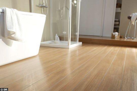 32 best images about projet salle de bain on pinterest for Parquet en teck pour salle de bain