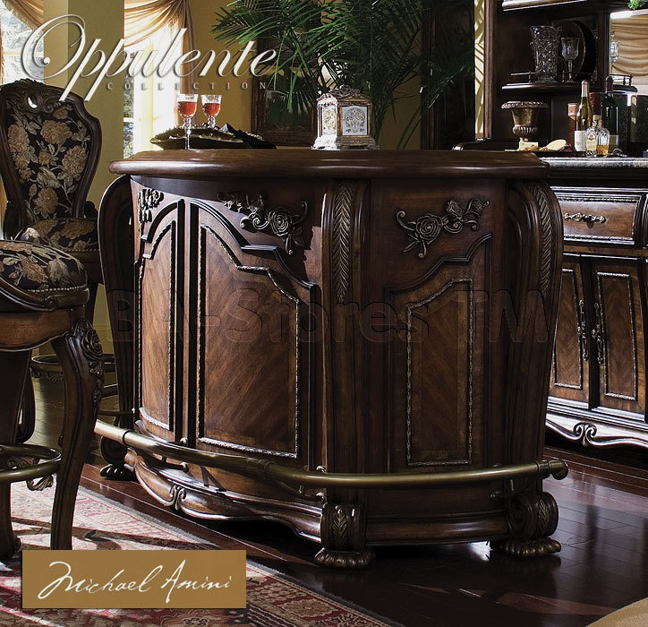 oppulente bar in dark finish aico
