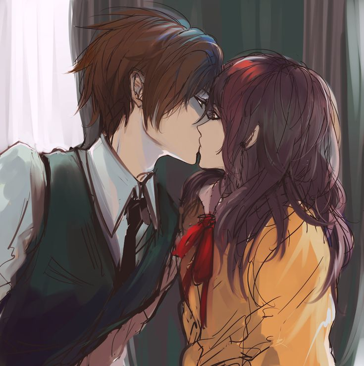 Couple Anime And Kiss Image On We Heart It