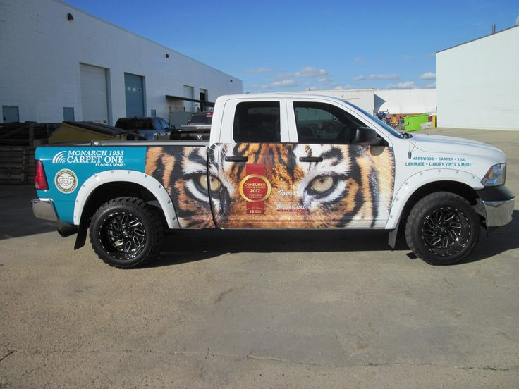 Another eye-catching wrap by Speedpro Imaging Edmonton South for client Monarch Flooring's group of vehicles!