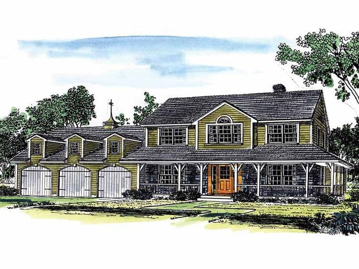 108 best house plans images – House Plans With Attached 4 Car Garage