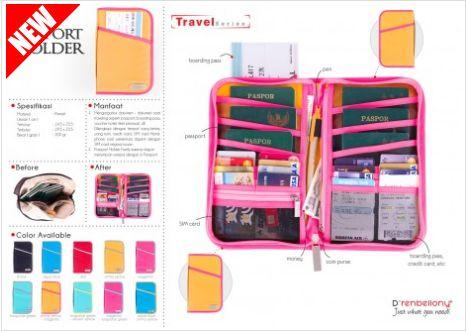 Passport Cover D'renbellony menjaga passport tetap bersih dan bagus. Mengorganisir dokumen – dokumen saat travelling seperti boarding pass, bolpoint, kartu kredit, kartu keberangkatan, dll