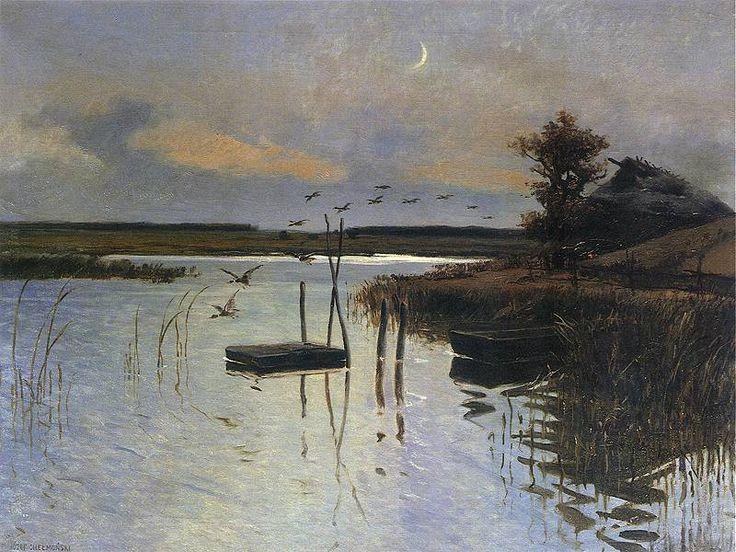 Jozef Chelmonski ~Kaczki nad wodą  1880.