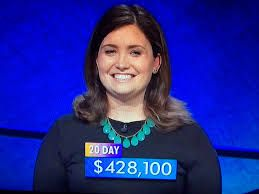 JULIA COLLINS, JEOPARDY WINNER -SMART WITH A CHARMING  VOICE!