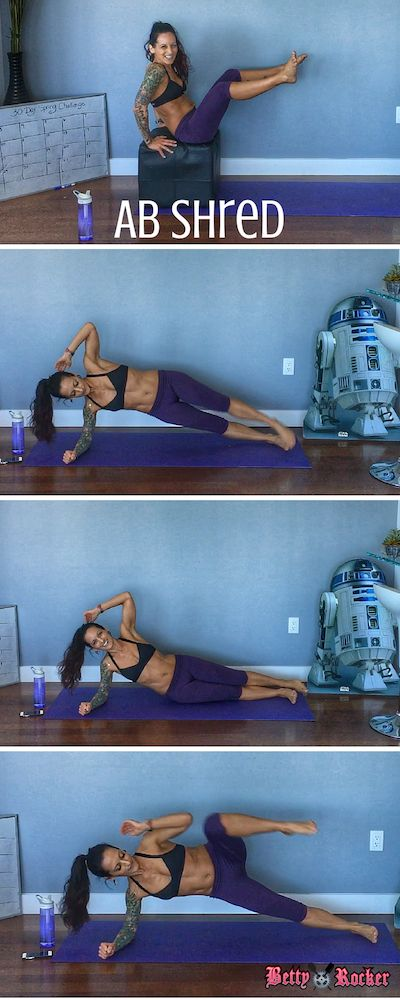 6-move super shredder abs workout - get it now and do the workout with me in the video!