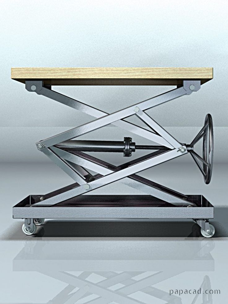 Screw Scissor Table CAD project – Coffee Table design