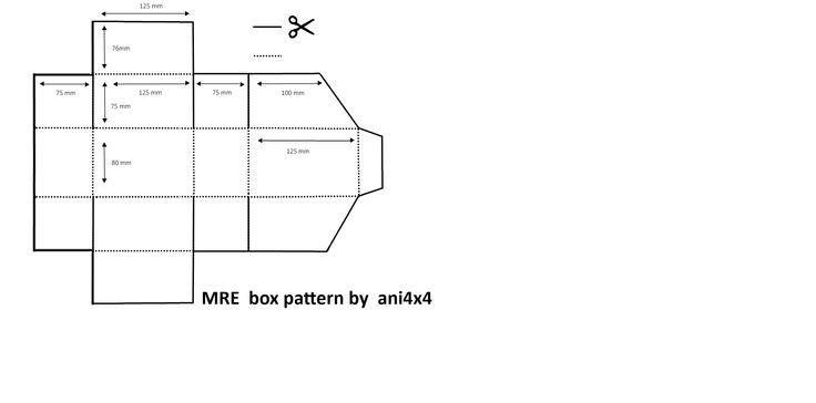 #MRE #Racion #emergencia #racionesmilitares #pattern #modelo #box #caja #carton #comida #secundaria #ani4x4