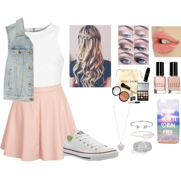 by rosetteanne on Polyvore featuring polyvore fashion style Glamorous Madewell Converse Adriana Orsini Accessorize Bling Jewelry Bobbi Brown Cosmetics