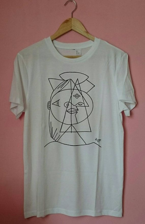 Picasso Cubic Sketch t Shirt by SolukWorkshop on Etsy