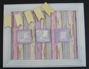 Framed picture. Rice papers, Deckchairs Art Stamp, Starlights - available at imaginationcrafts.co.uk