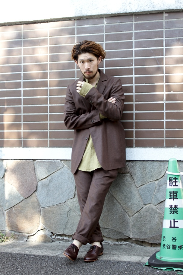 Area1:Shibuya,Tokyo(渋谷,東京)  Name:高橋 洋平  Occupation:Nid  Jacket:Edwina Hoerl  Tops:house of the very island's...  Trousers:Edwina Hoerl  Shoes:DIEPPA RESTREPO  Favorite shop:本屋