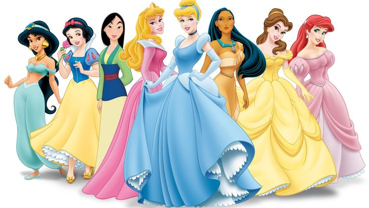 Princesas Disney de dibujos animados fondo de pantalla