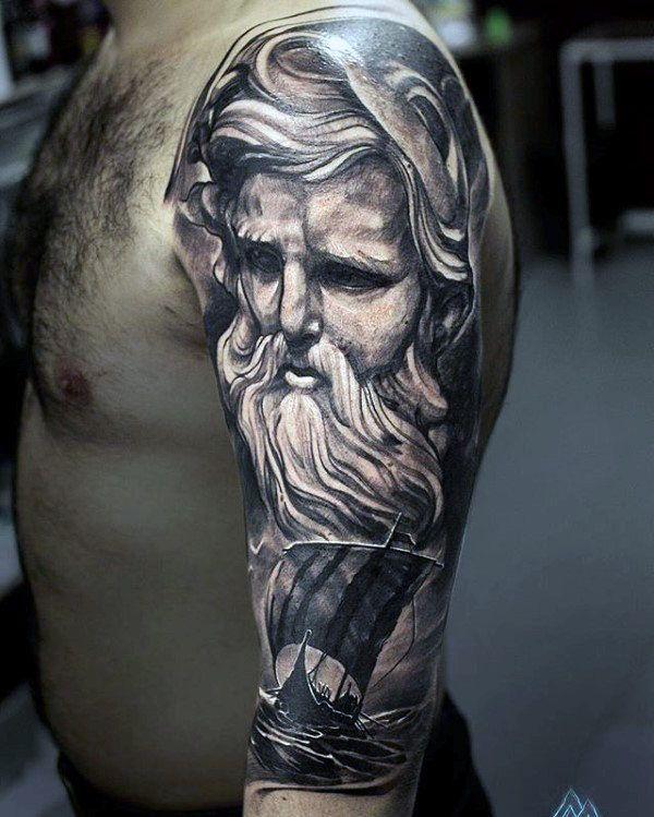 cba7d0ed78899 60 Odin Tattoo Designs For Men - Norse Ink Ideas | Viking tattoos ...