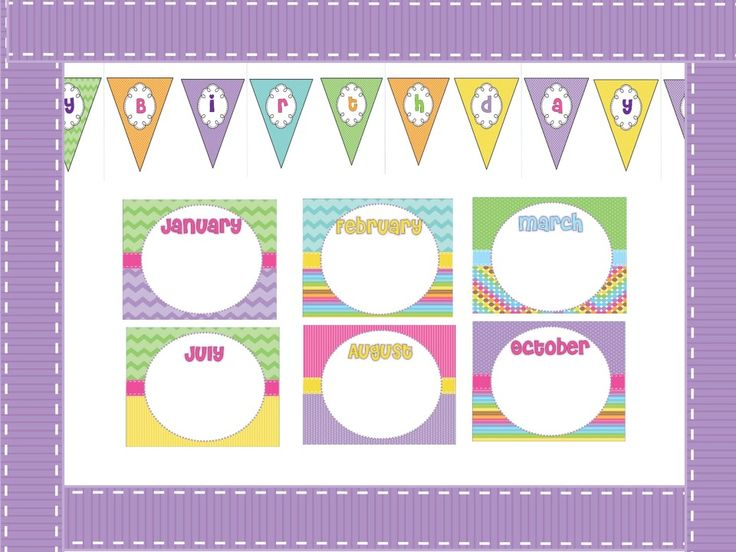 birthday bulletin board templates - birthday bulletin board