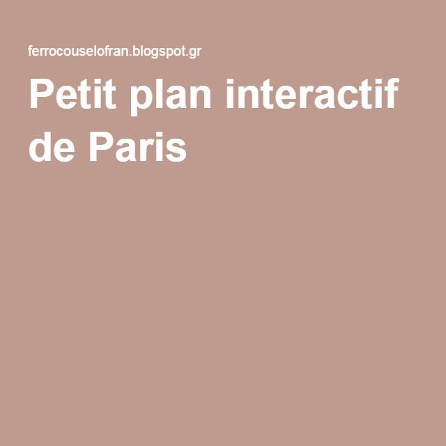 Petit plan interactif de Paris