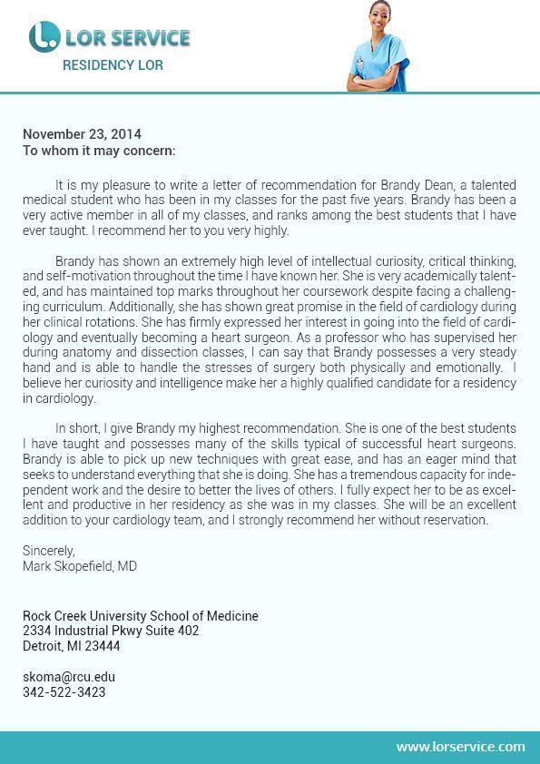 Sample Residency Letter Of Recommendation New Professional Medical Re Mendation Letter For Residency Letter Of Recommendation Lettering Referral Letter