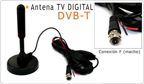 Consigue esta antena con base Imantada 28dB para sintonizador TDT Conexión F (macho). Una antena digital DVB-T (desmontable mediante rosca a la base) Receptor de Canales: VHF y UHF.