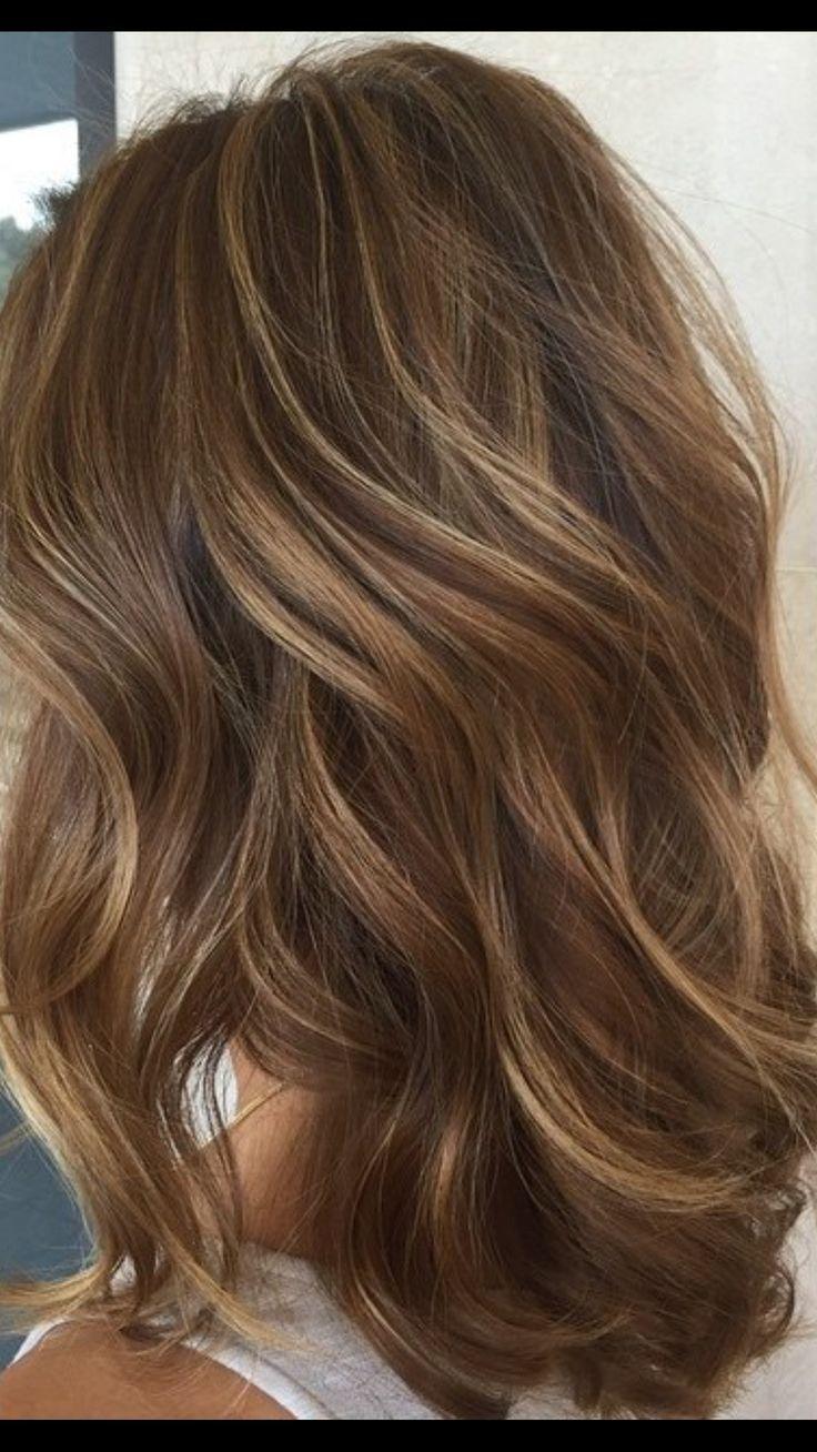 Hellbraun mit Highlights   – Haarfarbe Licht – #Haarfarbe #Hellbraun #Highlights…