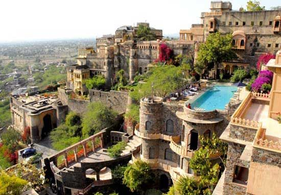 Neemrana Fort Palace. We are staying here two nights!