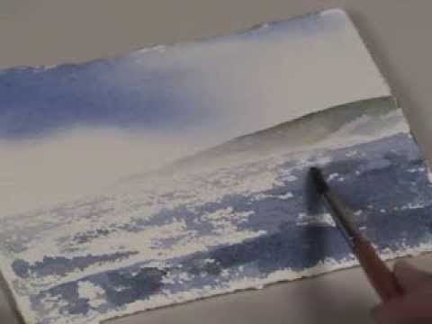 Wind Blown Water in Watercolor with Birgit O'Connor - YouTube