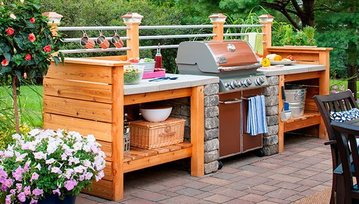 Lowes - sign up for their creative ideas magazine (free on lowes.com) it's filled with great ideas like this outdoor kitchen