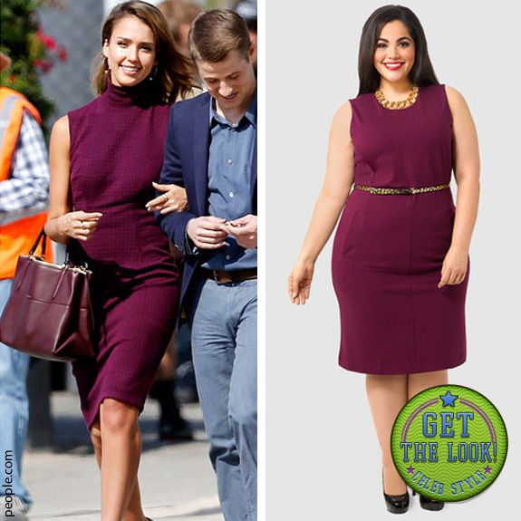 Get Jessica Alba's look with the Lands' End Ponte Sheath Dress with Pockets from #gwynniebee