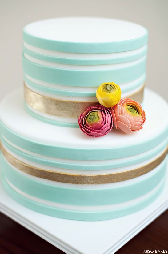 Gorgeous Simple Wedding Cake. #simple #wedding #cake #event #ideas #design #simple