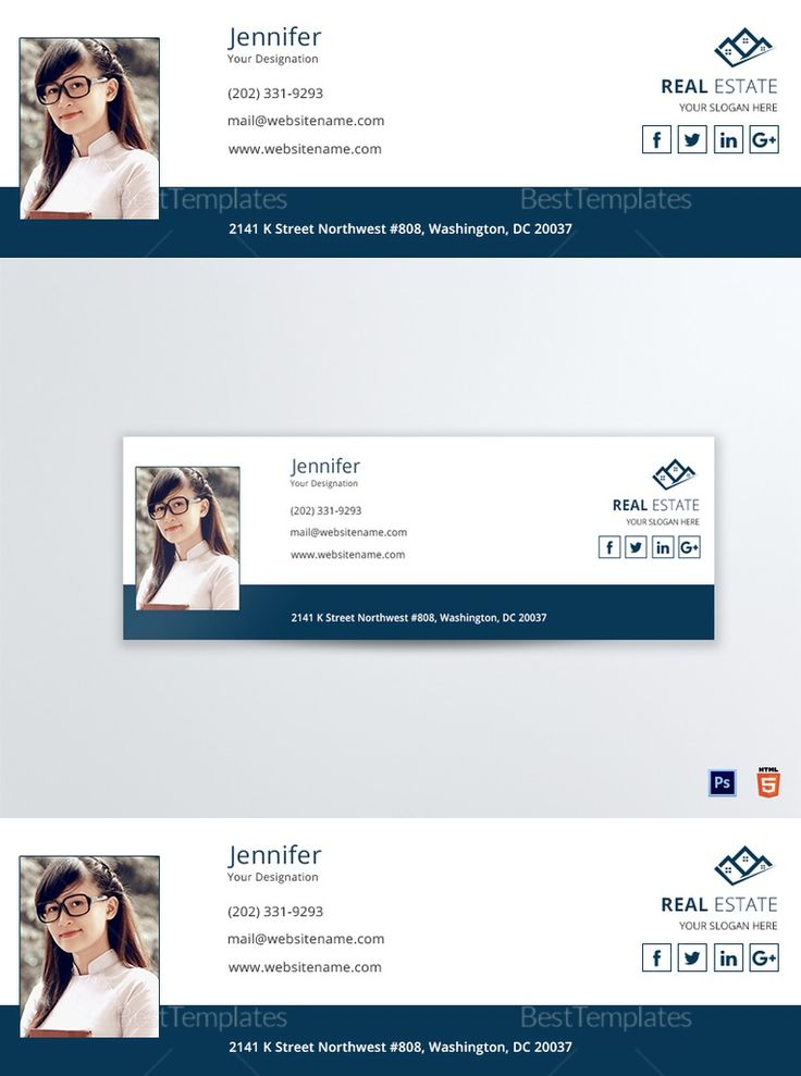 111 best Email Signature Templates in HTML, PSD images on Pinterest - outlook signature template