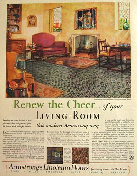 vintage armstrong floor original vintage magazine print. Black Bedroom Furniture Sets. Home Design Ideas