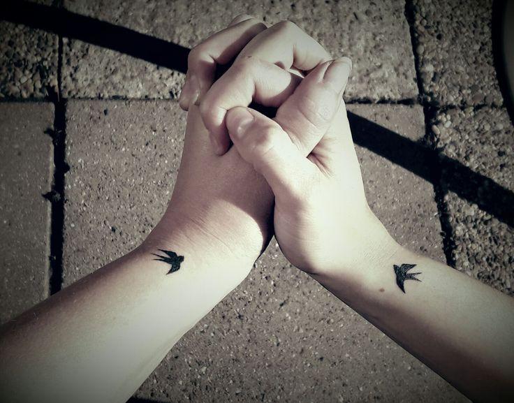 Friendship tattoo ! Tiny swallow freedom loyaliteit